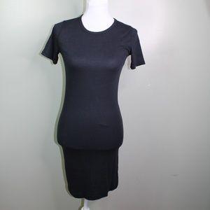 everlane women's black T-Shirt dress SZ S